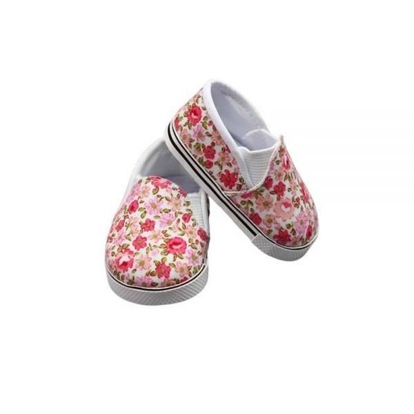 18-inch Doll Sneakers Hot Sale Foral design wholesale