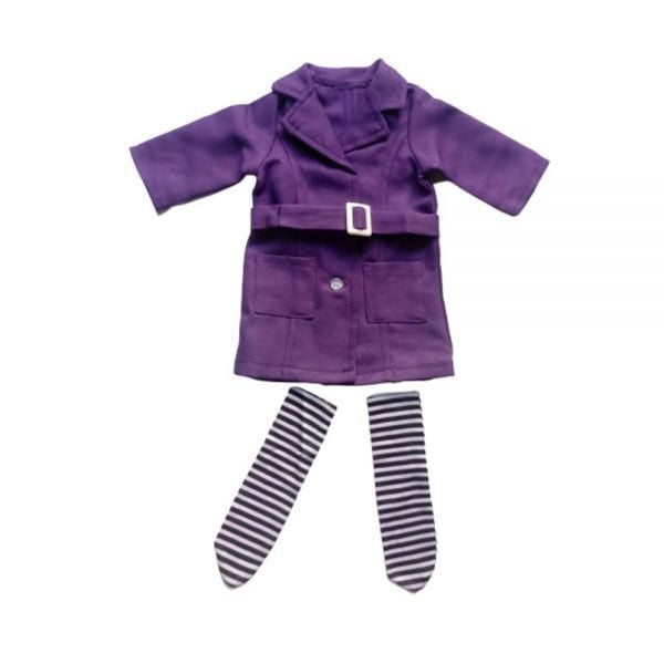 18'' American Girl Doll Coat With Pockets Fashion Stockings