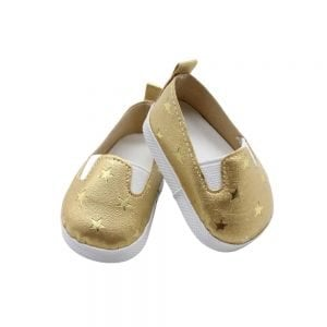 Golden doll sneakers