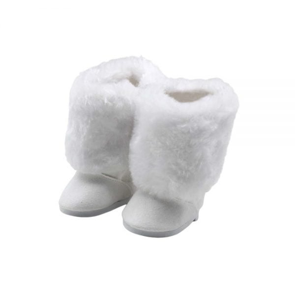 white doll boots