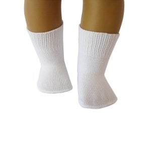 white doll socks