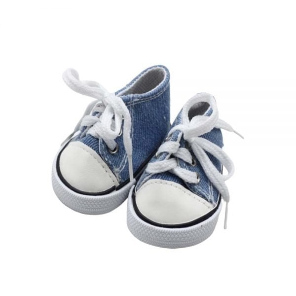 denim doll sneakers