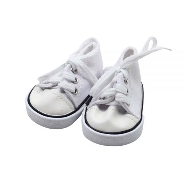 white doll sneakers