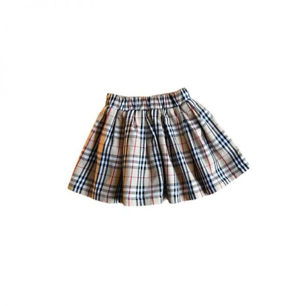 checked doll skirt